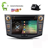 XTRONS 7'' Android 6.0 Quad Core Capacitive Touch Screen Car Stereo Radio DVD Player with Screen Mirroring Function OBD2 DAB+ for Toyota RAV4 2006-2011 Reversing Camera