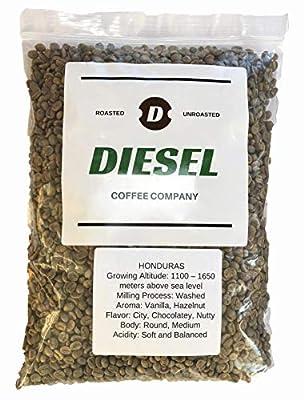 "Diesel Coffee Company""Honduras"" Unroasted Green Raw Coffee Bean 3Lb"