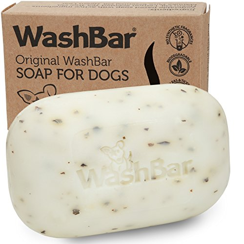 Original Washbar 100% Natural Organic Dog Shampoo Soap Bar for Itchy, Dry & Sensitive Skin – Helps With Fleas, Ticks And Lice. For Dogs, Puppy's, Cats And All Other Pets Made in New Zealand (Flea Shampoo Lice)