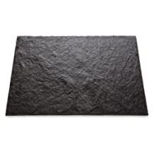 J.K. Adams VSR-1612 16-Inch by 12-Inch Square Slate Cheese Tray, Charcoal