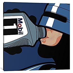 iCanvasART 1-Piece Robot Drink Canvas Print by Gregoire Leon Guillemin, 0.75 by 26 by 26-Inch