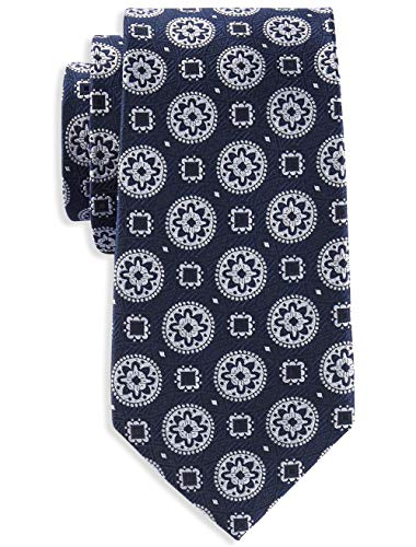 (Rochester by DXL Big and Tall Circle Medallion Tie,)