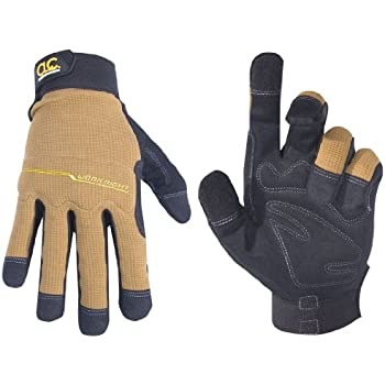 CLC Custom Leathercraft 124X Workright Flex Grip Work Gloves, Shrink Resistant, Improved Dexterity, Tough, Stretchable, Excellent Grip