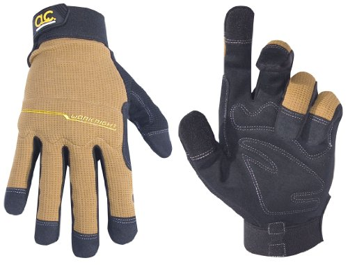 Custom Leathercraft 124X Workright Flex Grip Work Gloves, Shrink Resistant, Improved Dexterity, Tough, Stretchable, Excellent Grip