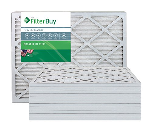 FilterBuy 20x23x1 MERV 13 Pleated AC Furnace Air Filter, (Pack of 12 Filters), 20x23x1 – Platinum