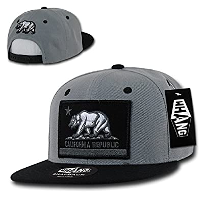 California Republic FLAG Flat Bill Snapback by WHANG (Grey/Black)