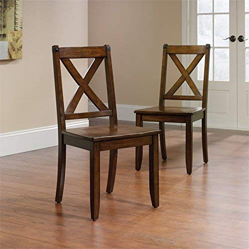 Sauder 419025 Carson Forge X-Back Chair with Metal Accent, L: 17.99