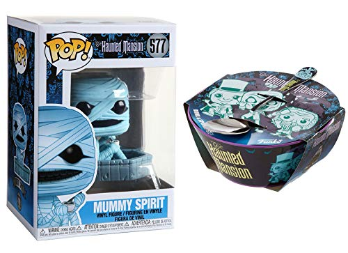 Spirit of The Mummy Disney Haunted Mansion Pop! Figure Bundled with Bowl & Spoon Set Spooky Creepy Times 2 Items