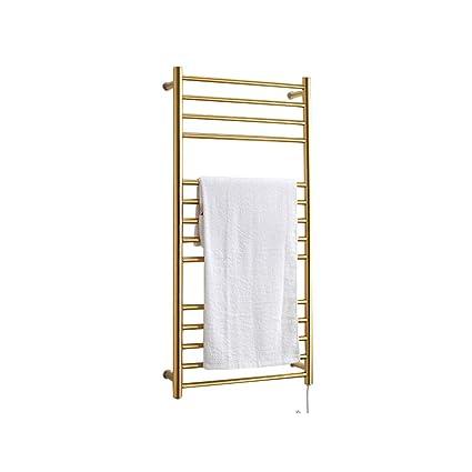 GOODLQ Calentador de Toallas Caliente para el baño Radiante con calefacción por Cable de Secado Rack