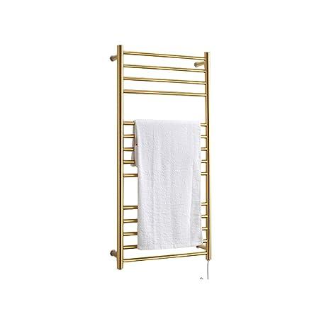GOODLQ Calentador de Toallas Caliente para el baño Radiante con calefacción por Cable de Secado Rack: Amazon.es: Hogar