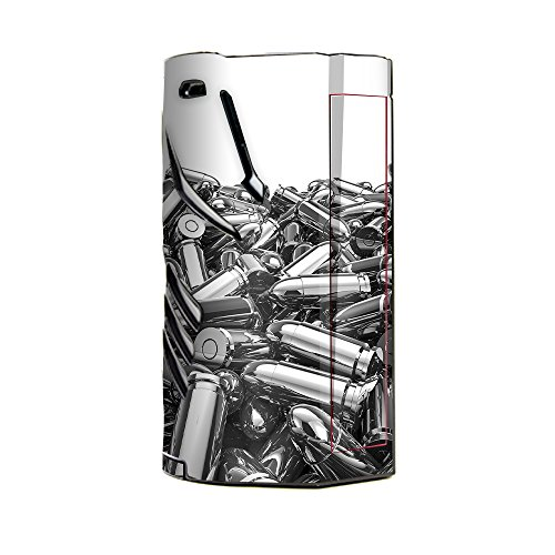 p for Smok T-Priv 3 Kit 300w TC Vape skins stickers cover / Silver Bullets Polished Black White (Case Silver Bullet)
