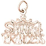 14K Rose Gold Spanish Princess Pendant Necklace - 20 mm