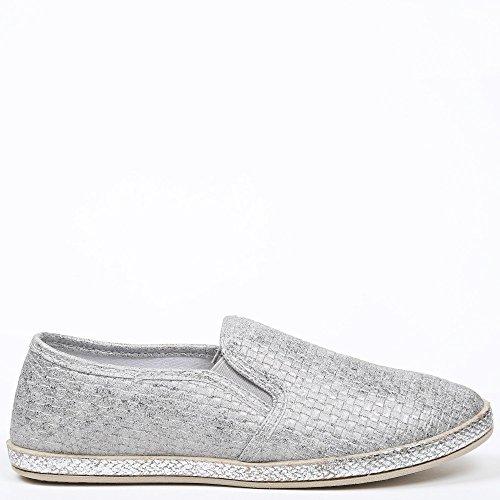 glitterato effetto Grigio Ideal grigio intrecciato on Dalila Shoes Slip Xn101F4