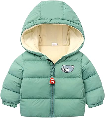 Baby Toddler Kids Boys Girls Plain Zip Up Thick Hoodie Hoody Hooded Top Fleece