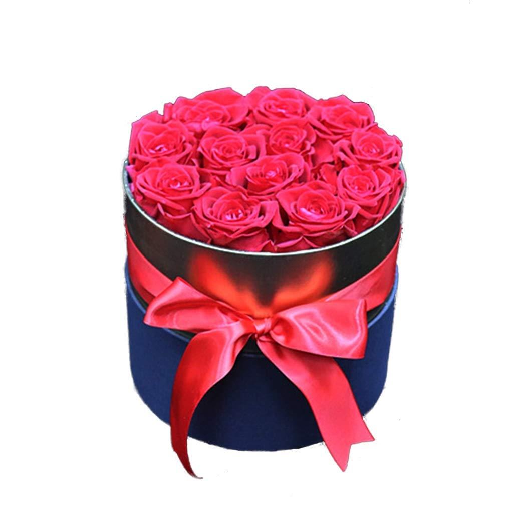 永遠のバラ赤、生花の保存、バラのセット、結婚式の贈り物として最適、誕生日、バレンタインデー (色 : 赤) B07QK8F6X9 赤