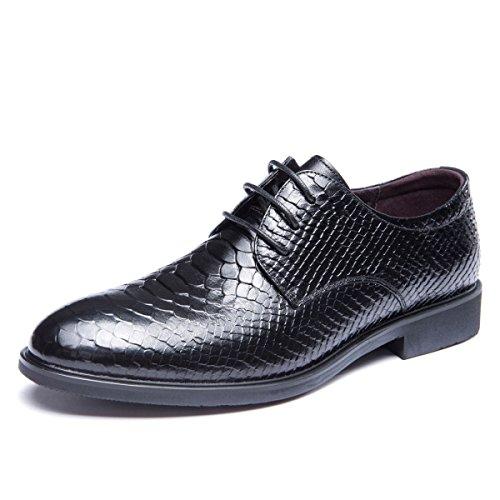 LEDLFIE Chaussures Formelles D'Affaires en Cuir Chaussures de Marée de La Jeunesse Chaussures de Mariage Black luuLjg