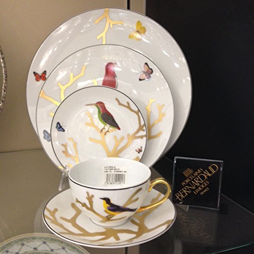 Bernardaud Limoges Aux Oiseaux 5 Piece Place Setting (Includes: Dinner,salad, Bread, Tea Cup, and Tea Saucer)