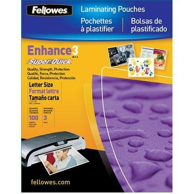 FEL5245801 - Fellowes Glossy SuperQuick Pouches - Letter, 3 mil, 100 pack