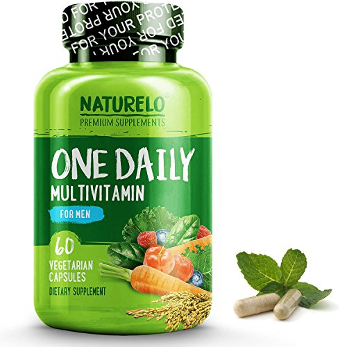 NATURELO One Daily Multivitamin for Men - with Whole Food Vitamins & Organic Extracts - Natural Supplement - Best for Energy, General Health - Non-GMO - 60 Capsules | 2 Month Supply by NATURELO