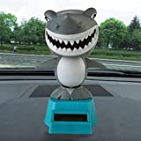 Gessppo Solar Powered Dancing Toys Swinging Shark Dancer Toy Car Decor