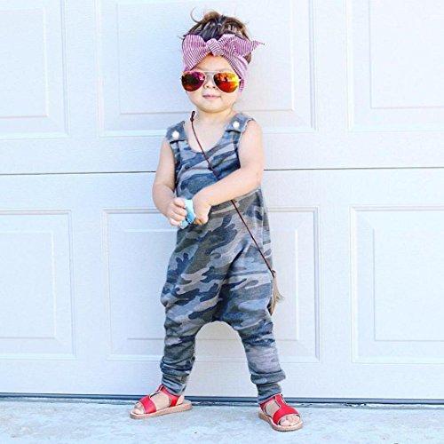 IEason Newborn Kids Baby Boys Clothes Sleeveless Camouflage Romper Jumpsuit Pajamas