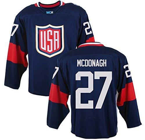 2016 World Cup Men's USA #27 Ryan Mcdonagh Navy Ice Hockey Jersey