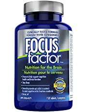 Focus Factor Brain Supplement & Complete Multivitamin (150 Count) with Zinc, Magnesium, Vitamins B6, B12, D, Bacopa Monnieri & Tyrosine to Improve Memory, Concentration and Focus