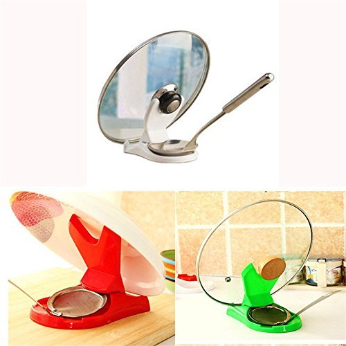 Ayutthaya shop 1X New Spoon Pot Lid Shelf Cooking Storage Kitchen Decor Tool Stand Holder. Color:Send Randomly - Amish Console