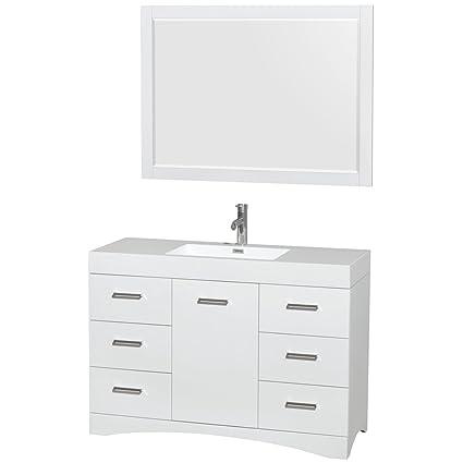 Wyndham Collection Delray 48 Inch Single Bathroom Vanity In