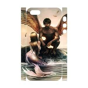 Iphone 5,5S Little mermaid 3D Art Print Design Phone Back Case Custom Hard Shell Protection FG093206