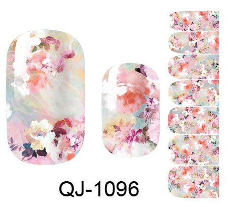 ll Wrap Space Design- Flower Nail Sticker Tattoo - FashionDancing ()