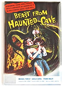 Beast from Haunted Cave Movie Poster Fridge Magnet (2.5 x 3.5 inches) by Blue Crab Magnets