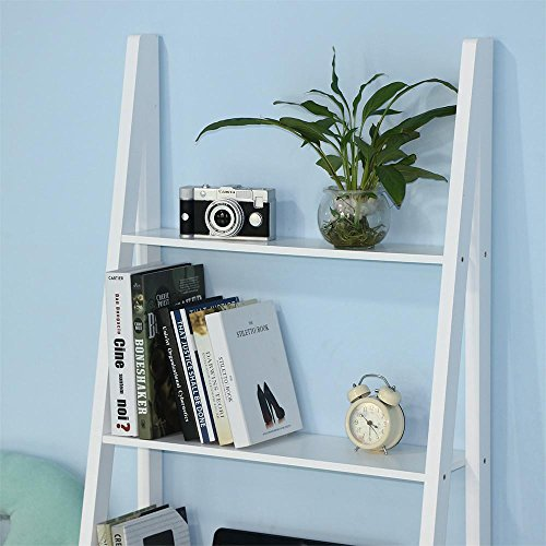 Yaheetech Wood 3-Tier A-Frame Shelf, White