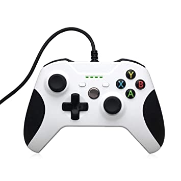 Controlador Xbox One, STOGA Mando Xbox One USB con Cable Controlador de Juego de Reemplazo Compatible con Xbox One y PC (Windows 7/8/10) - Blanco: ...