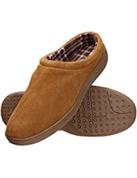 Men's Memory Foam Suede Indoor/Outdoor Clog Slipper Shoe