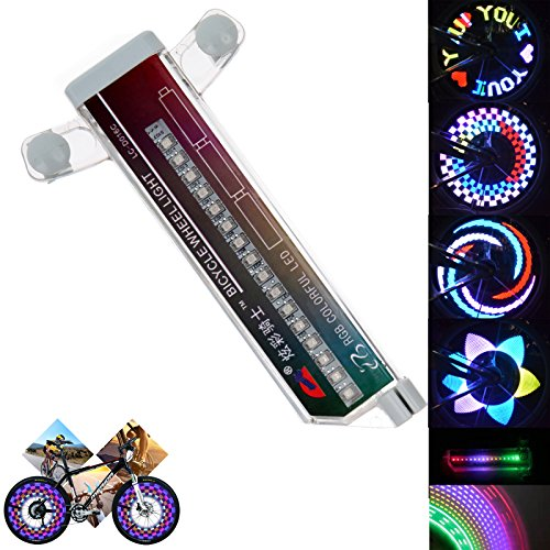 Bicycle Wheel Lights 32 LED Spinning Light Lamp Bike Accessories Cycling Bikes Bicycles Outdoor Flashing Spoke Light (20 Pattern)