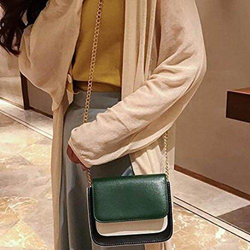 Donna In kword Pelle Elegante Roma Spalla Messenger Borsa Crossbody Verde Borse A Con Catena aHpdwnq