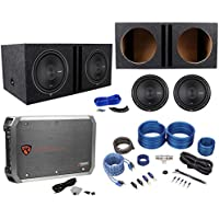 (2) Rockford Fosgate P2D4-12 12 Subs+Vented Enclosure+750W Amplifier+Wire Kit