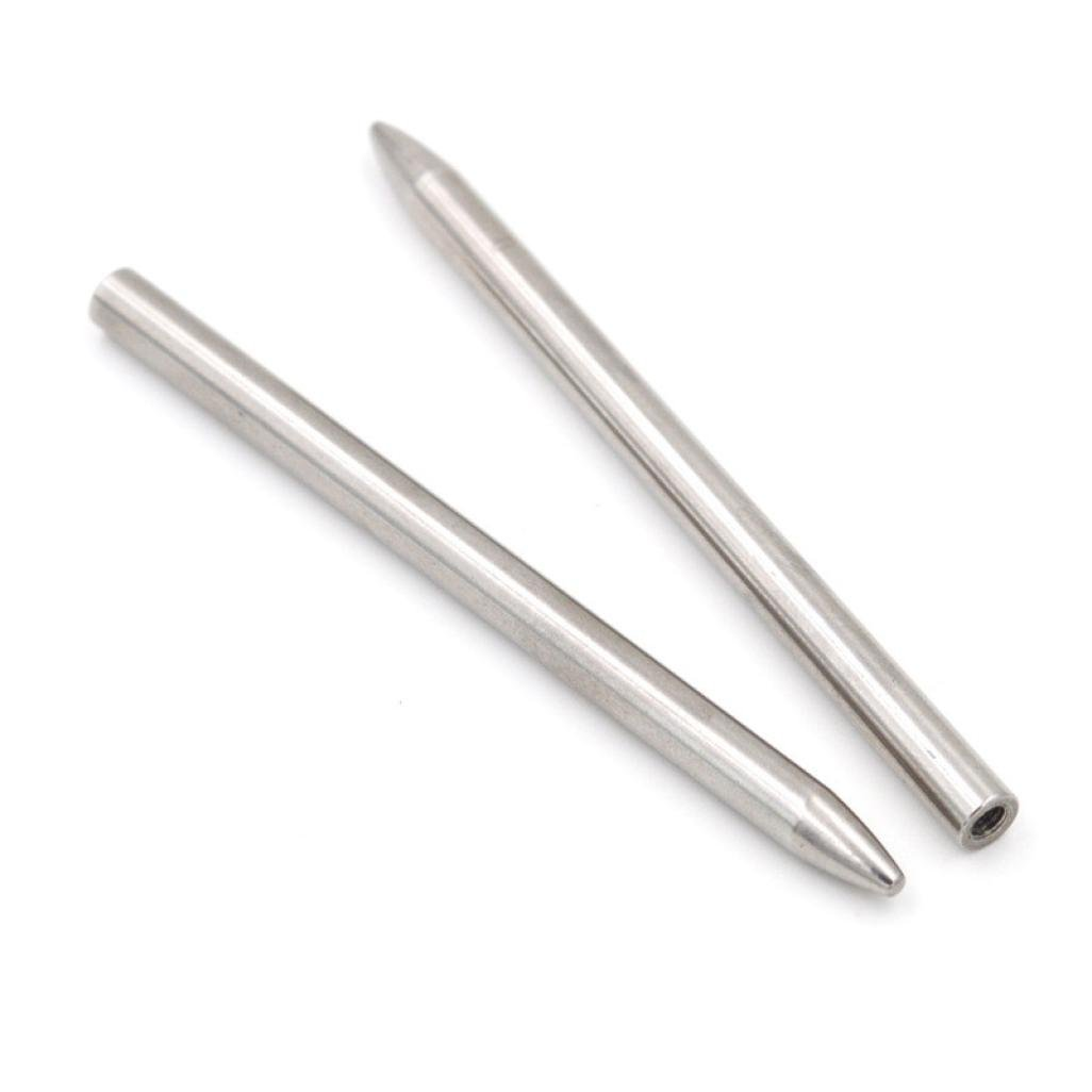 Fheaven 2pcs 550 Paracord Fids Lacing Stitching Weaving Stainless Steel Needles