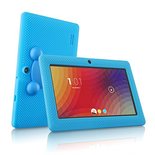 Price comparison product image LillyPad Jr. Kids Android Tablet with Exclusive Parental Controls, Really Smooth Performance and Premium Features - Android KitKat 4.4, HD Screen, 8GB Storage, 1GB Ram Bluetooth 4.0 - Blue - June 2016