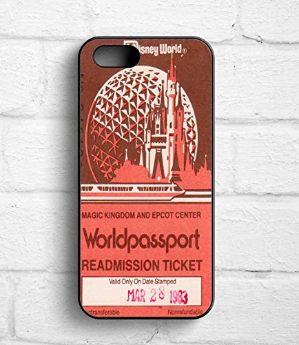 Magic Kingdom And Epcot Center Worldpassport Disney World Vintage For Iphone 5/5S Case (Iphone 5 Case Disney World compare prices)