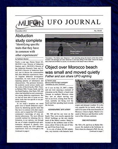 MUFON UFO Journal / December, 2012. Abduction Study; Morocco Beach Object; Psi Phenomena; Craft Linked by
