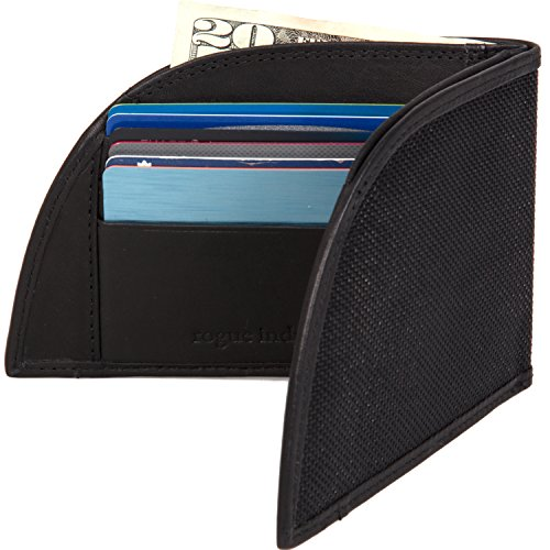 - Rogue Industries Front Pocket Wallet by Rogue Industries - Ballistic Nylon With, Leather Interior and RFID Blocking