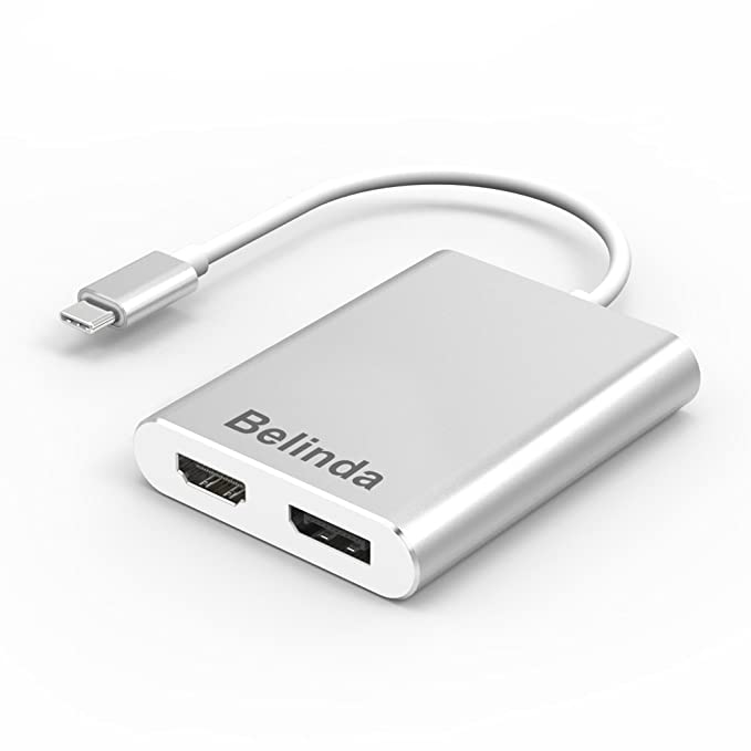 USB C a HDMI DisplayPort adaptador, Belinda USB 3.1 Tipo C/3 ...