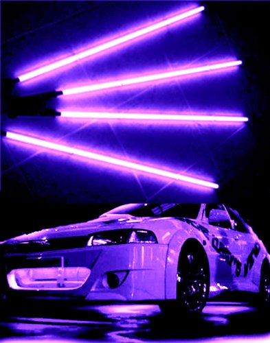 Neon Purple Underbody Car Kit 4 Tubes 2x 4' & 2x 3' ()