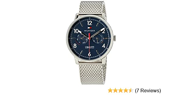 Amazon.com: Tommy Hilfiger Mens Sophisticated Sport Quartz Watch with Stainless-Steel Strap, Silver, 20 (Model: 1791354: Watches