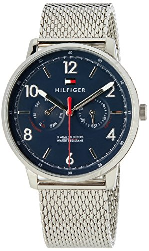 'Sophisticated Sport' Quartz Stainless Steel Casual Watch, Color Silver-Toned (Model: 1791354) (Tommy Hilfiger Water Resistant Bracelet)