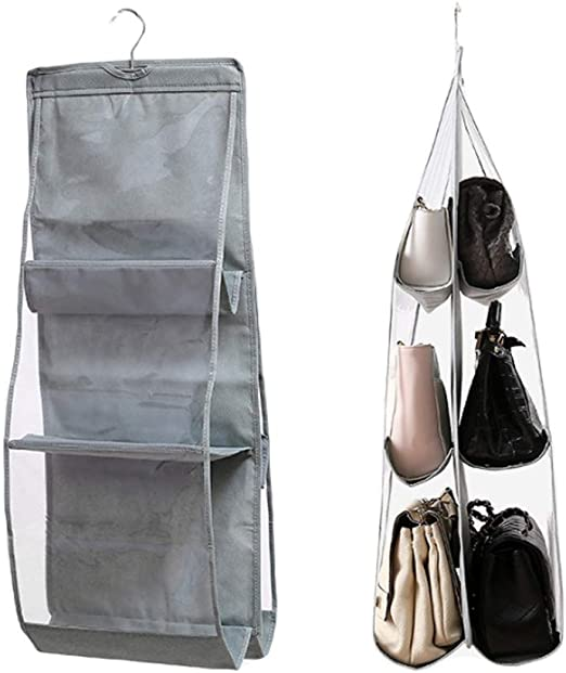 Handbag Purse Storage Bag Dustproof Hang PVC Clear Pouch Bag Closet Space Saver