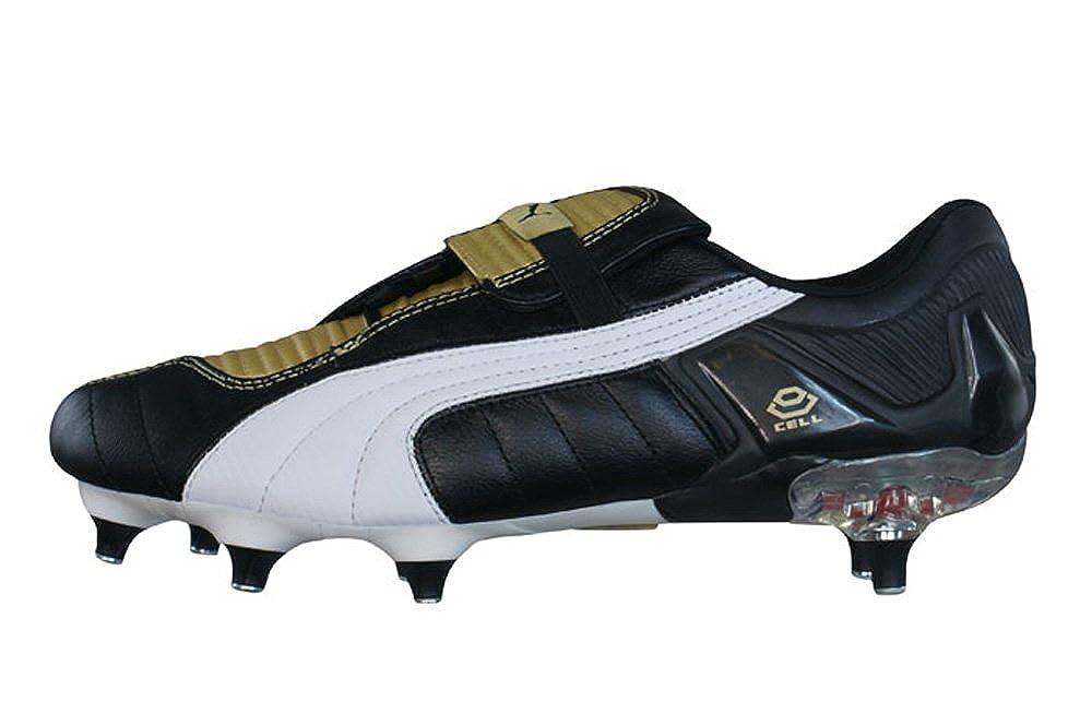 Puma V-Konstrukt Sportschuhe Schwarz Gold Sport Fußball Schuhe Stollen