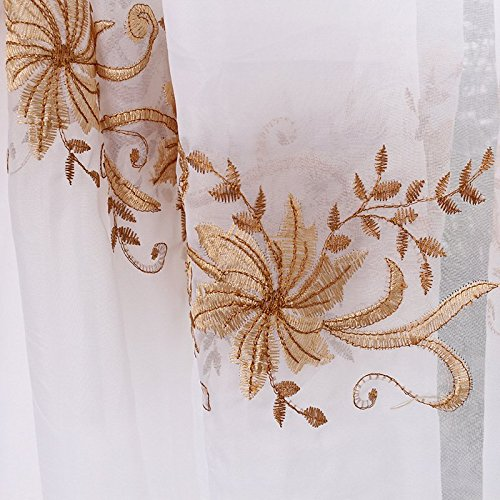 MinminTown(TM) New Arrival Modern European Simple Style windmill flower embroidered voile curtains Factory outlets (Curtain Factory Outlet)